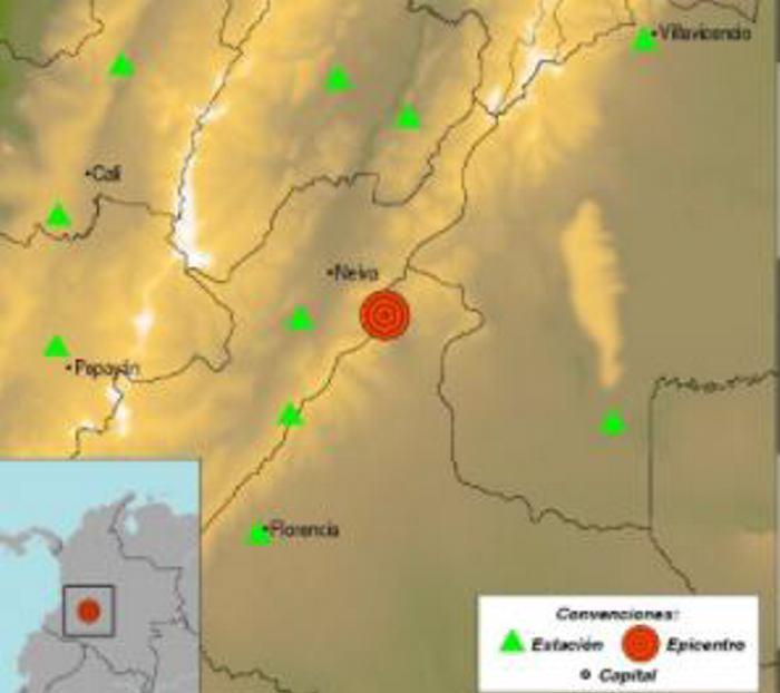 No se reportan daños ni víctimas tras temblor en el Huila
