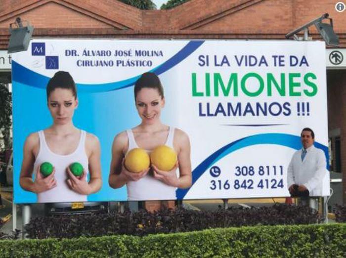Publicidad sobre cirugías plásticas causa rechazo en Cali