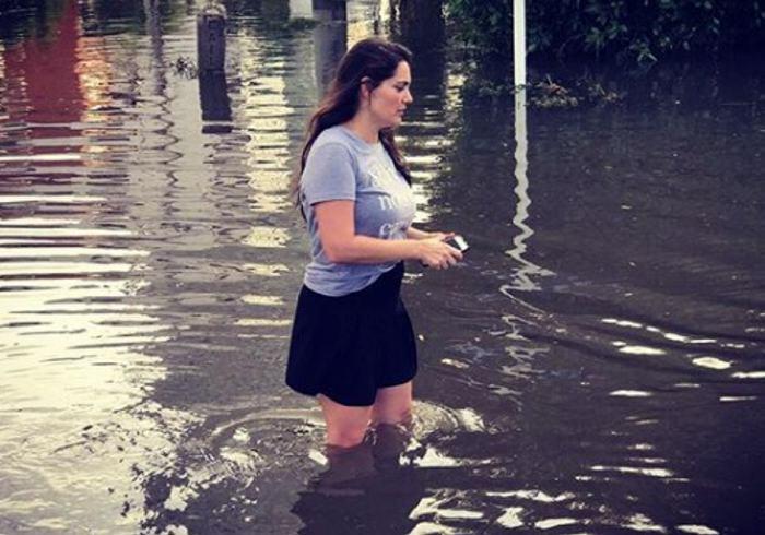 Se le inundó la casa a Jessica De La Peña en Castillogrande