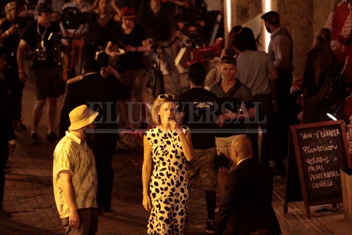 La actriz Charleze Theron paraliza el Centro Histórico de Cartagena