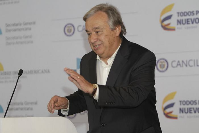Secretario general de la ONU visitará Colombia
