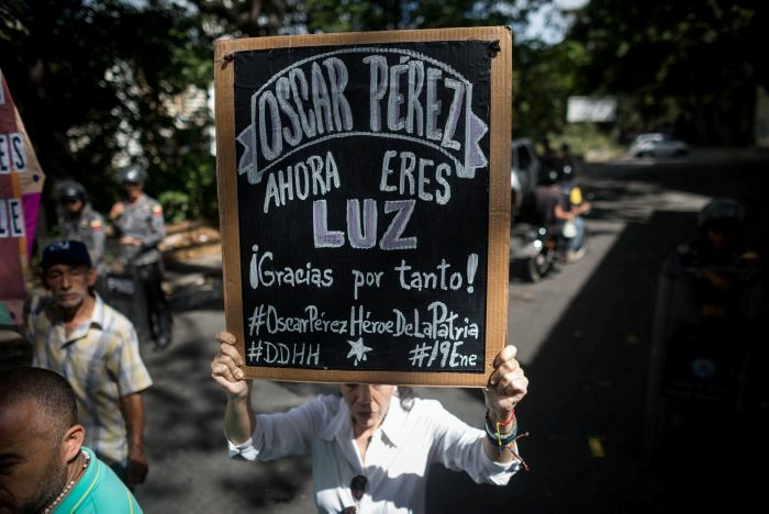 Entierran a expolicía rebelde Óscar Pérez abatido por el gobierno de Venezuela