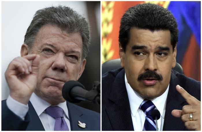Dura recriminación de Santos a Maduro, califica de