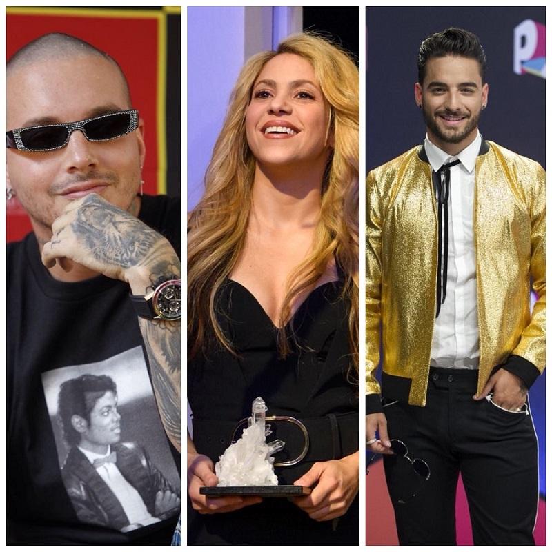 J Balvin, Shakira y Maluma, colombianos nominados a los premios Billboard
