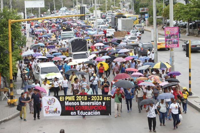 Docentes de Bolívar marcharán en medio del paro nacional