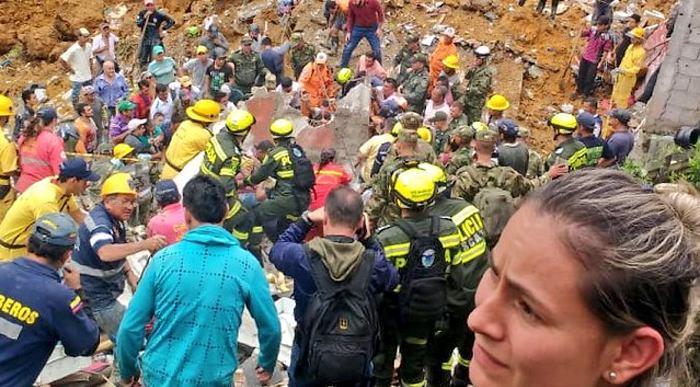 12 muertos deja deslizamiento en Marquetalia