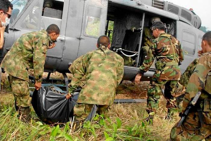 la guerrilla activo una carga explosiva al paso de un grupo de
