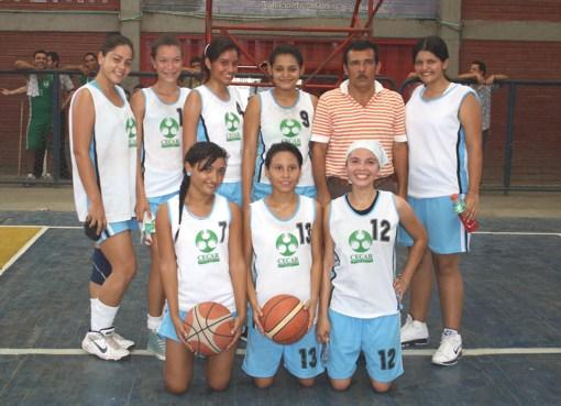 en la rama femenina del Regional de Baloncesto con sede en Montería