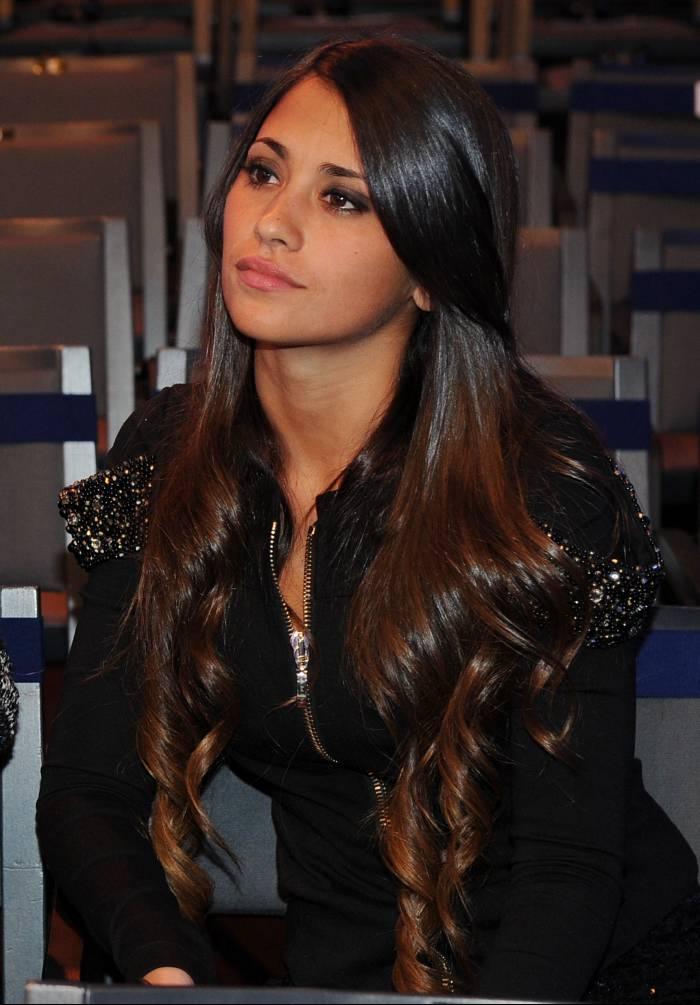 Antonella Roccuzzo, novia de Lionel Messi. // AFP FRANCK FIFE
