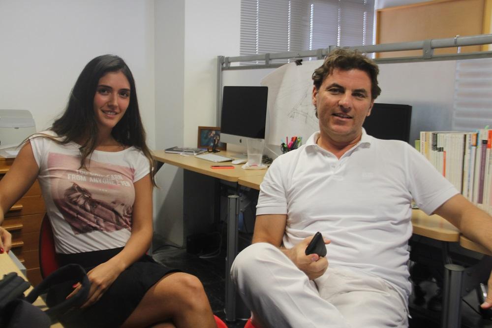 Teremar Londoño y Fernando De La Vega, en oficinas de la empresa De La Vega Arquitectos