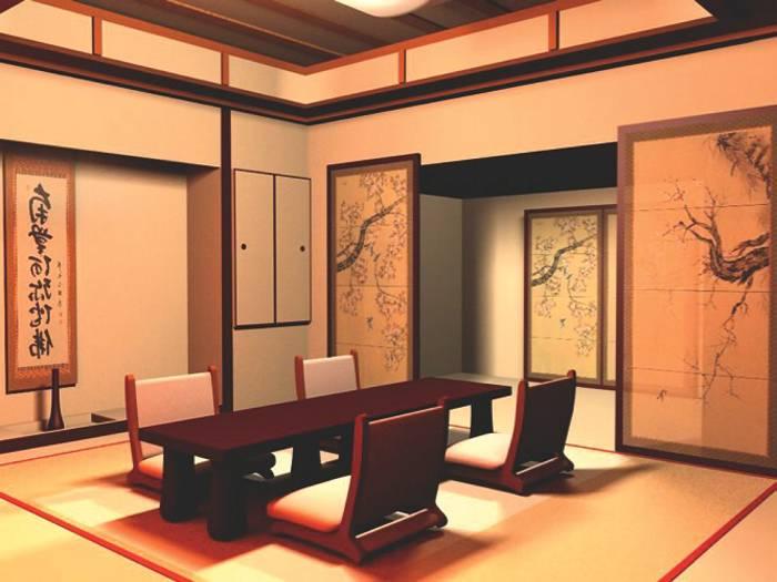 Decoración de interiores al estilo oriental.