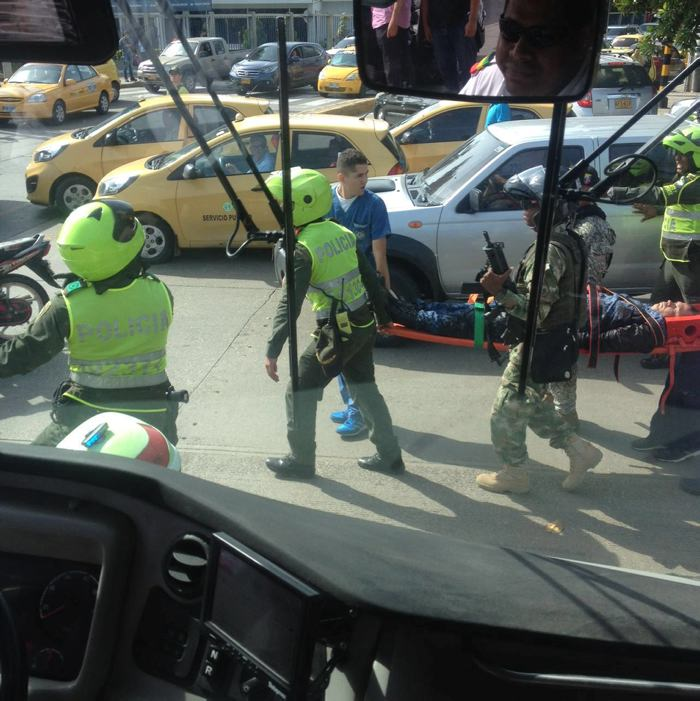 Falsos guardias del Inpec desatan balacera en Cartagena