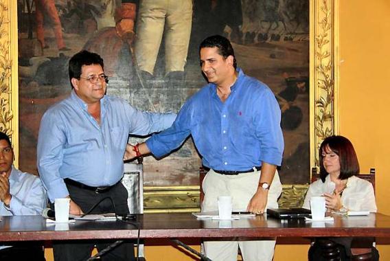 Empalme en la Gobernación de Bolívar