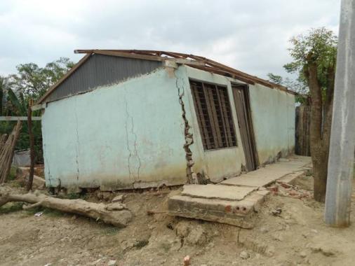 Según Acuecar, el desplome del terreno y de las casas es por problemas del suelo