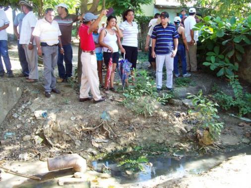 visita oficial al barrio El Progreso