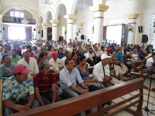 Audiencia en que se declaró la primera zona de reserva campesina de El Carmen d