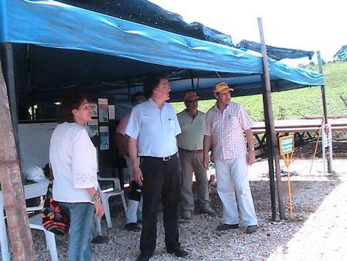 Representantes de la Superintendencia de Servicios Públicos durante la inspecció