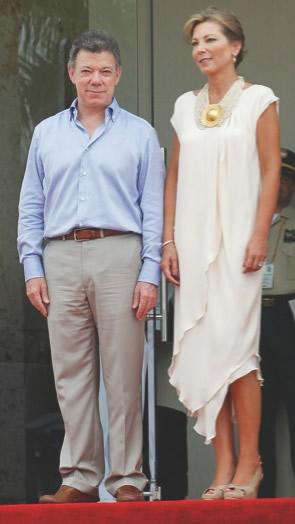 Juan Manuel Santos y su esposa María Clemencia