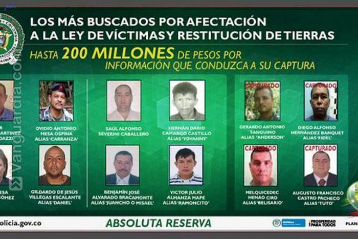 Fotos de los colombianos mas buscados 12