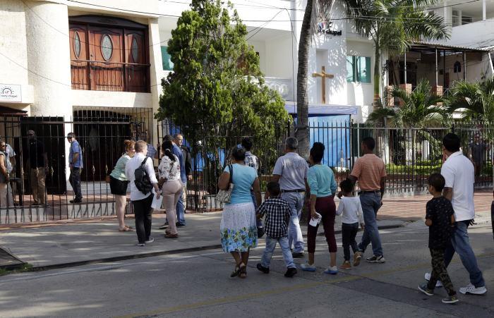 La reunión tuvo lugar en una iglesia protestante en el sector turístico de Bocagrande.