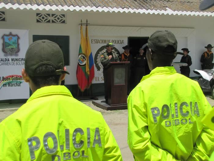 La Policía Nacional regresó al corregimiento El Salado - El Universal - Cartagena