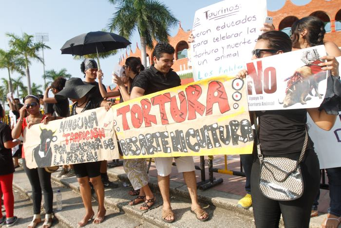 Protesta antitaurina