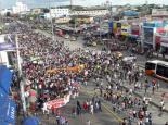 Marcha de estudiantes por la educación.