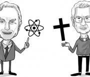 Caricatura Richard Dawkins y Gerardo Remolina