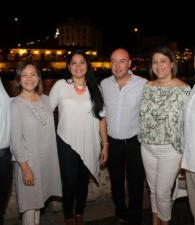 Paco Sáenz, Regina Brieva, Yessica Rivas, Juan Pablo Correa, Vanessa Nery y Héctor Hernández.