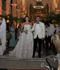 Los recién casados: Laura Arciniegas y Sebastián Mora.