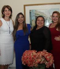 Sonia Gedeón, la agasajada, Katiana Zabaleta; Vilma Viloria y Margarita Ramos./