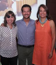 Roxana Segovia, Luis Ernesto Araújo y Judith Pinedo.