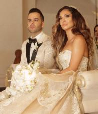 Los recién casados, Federico Severini y Kimberly Reyes.