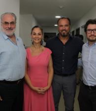 Pablo Obregón, María Claudia Trucco, Álvaro González y José Aguirre.