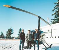 Los tripulantes de este helicóptero del emprendimiento son Ruben Dias, Mischa Gelb y Diogo Dias.