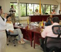 La nueva secretaria de Educación de Sucre, Merly Rodelo, rindió informe sobre el PAE ante los diputados