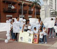 Plantón en el Centro por el asesinato de la niña Sofía Bermúdez Figueroa en San Fernando.