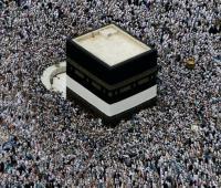 Musulmanes se reúnen en la gran Mezquita de La Meca en Arabia Saudita