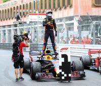 Daniel Ricciardo, Red Bull, logra la victoria en el Gran Premio de Fórmula 1 de Mónaco