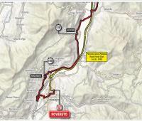 Planimetría etapa 16 Giro de Italia 2018.
