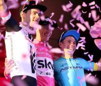 Podio del Giro de Italia 2018.