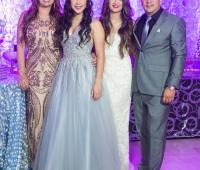 Susana Saravia de Noriega, Silvana Noriega Saravia; Susana Fortich Saravia y Armando Noriega