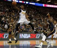 Emmanuel Mudiay de los Nuggets de Denver. NBA. Londres. 2017.