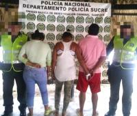 Zuleima Gómez Montes, Yorledys Carrascal Martínez y Nixon Aguas Suárez, capturados por asonada y daño en bien ajeno.