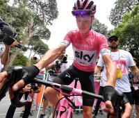 Chris Froome durante el Giro de Italia 2018.
