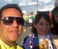 Hincha colombiano en Rusia