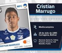 Cristian Marrugo. Imagen presentación jugador oficial Millonarios. 2018.