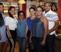 María Angélica Hartman, Elvira Vásquez, Rosalia Taborda, Ketty Gutiérrez, María Bayter y Amaury Maza.