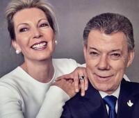 La primera dama de Colombia, María Clemencia Rodríguez de Santos, y Juan Manuel Santos, presidente de Colombia.