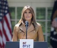 La primera dama de EE.UU. Melania Trump.